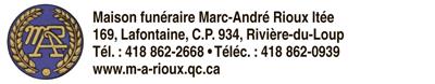 Logo deMaison funéraire Marc-André Rioux