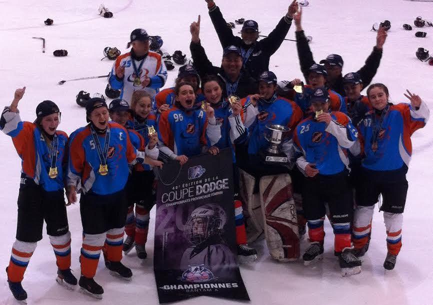 Victoire à la Coupe Dodge féminine pour les Cyclones du Bas-Saint-Laurent