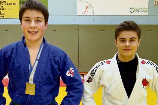 Deux judokas du club de La Pocatière sur le podium