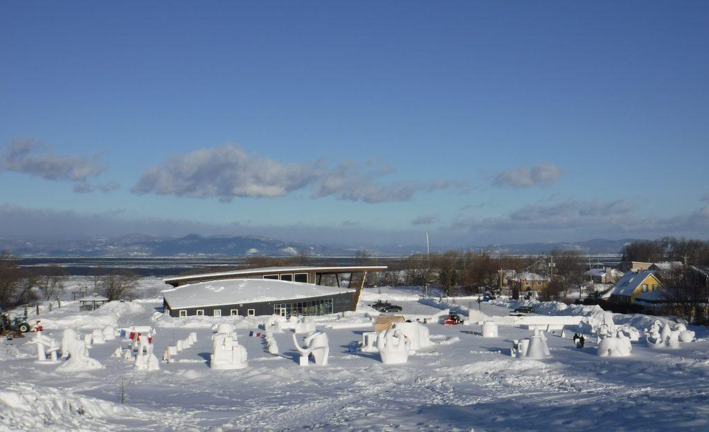 La sculpture sur neige célébrée en grand à Saint-Jean-Port-Joli