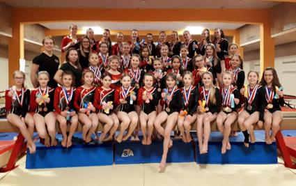 De belles performances pour les gymnastes du club de gymnastique GYMAGINE