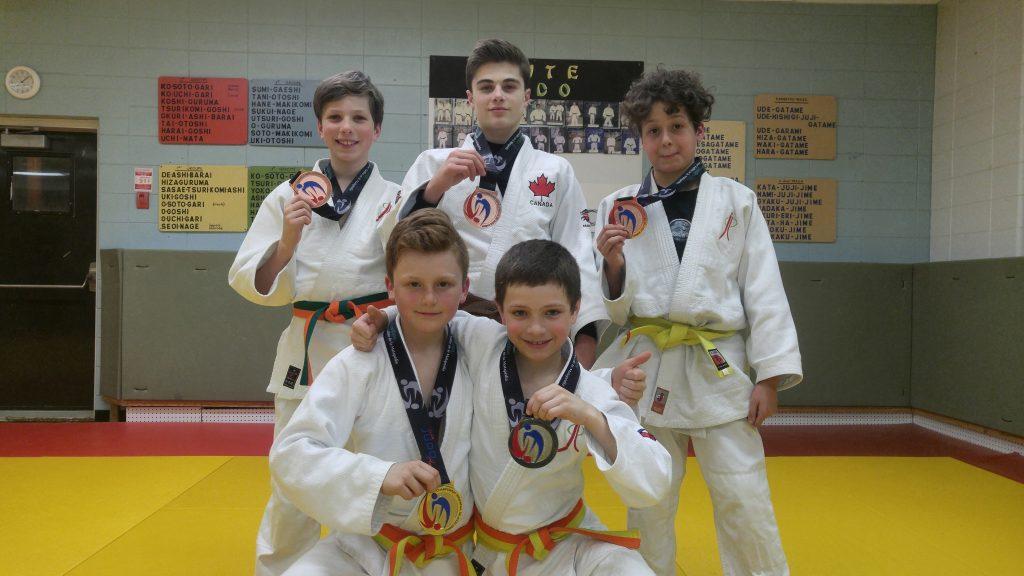 Cinq médailles au Championnat provincial de judo