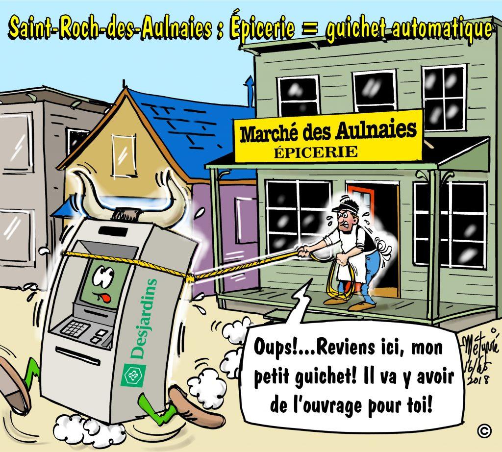 Dans la mire de Métyvié… la future épicerie de Saint-Roch et le guichet automatique