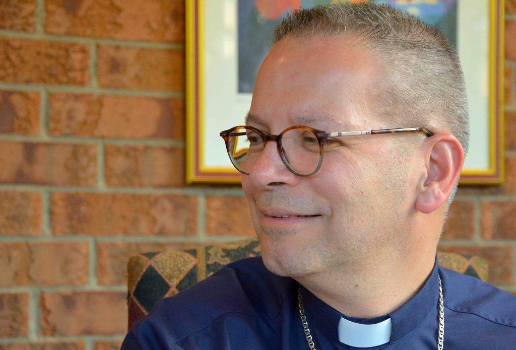 Mgr Pierre stimulé par les défis de l'Église actuelle