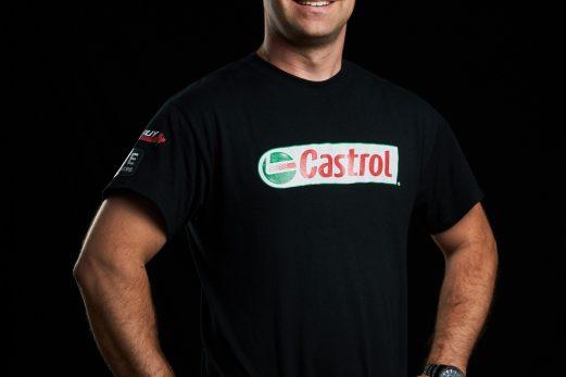 Simon Dion-Viens de retour en piste au volant de la voiture Castrol Canada