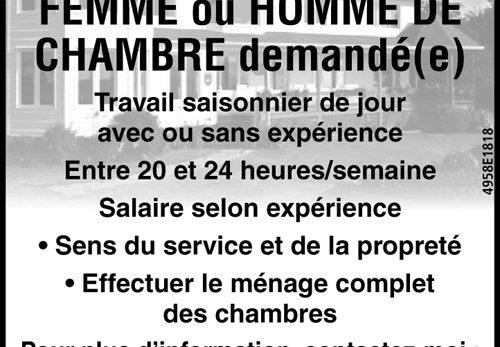 FEMME ou HOMME DE CHAMBRE