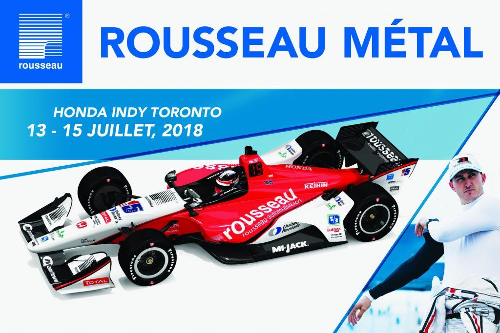 Les couleurs de Rousseau Métal inc. au Honda Indy de Toronto