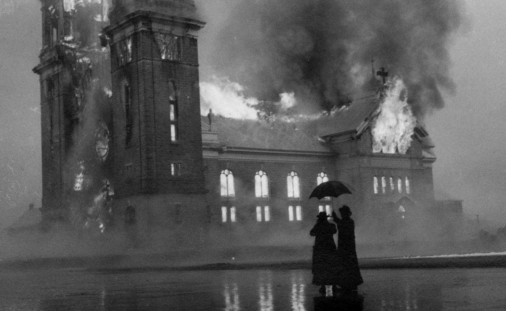 L'église de La Pocatière part en fumée