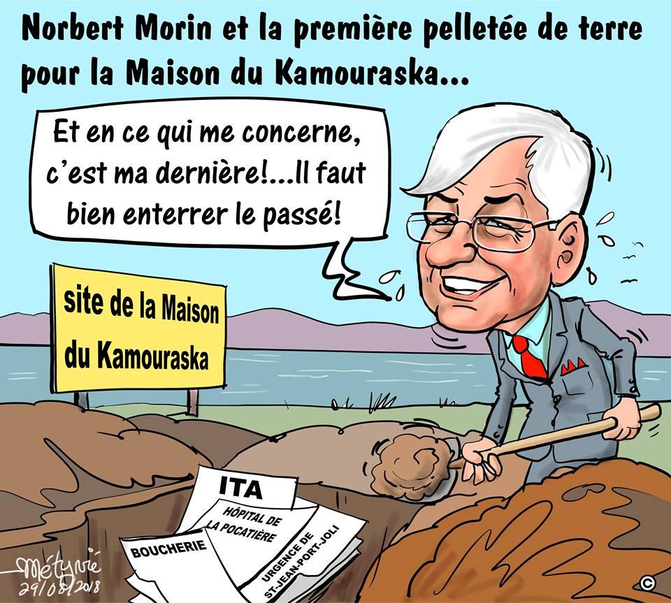Dans la mire de Métyvié… Une dernière pelletée de terre pour Norbert Morin