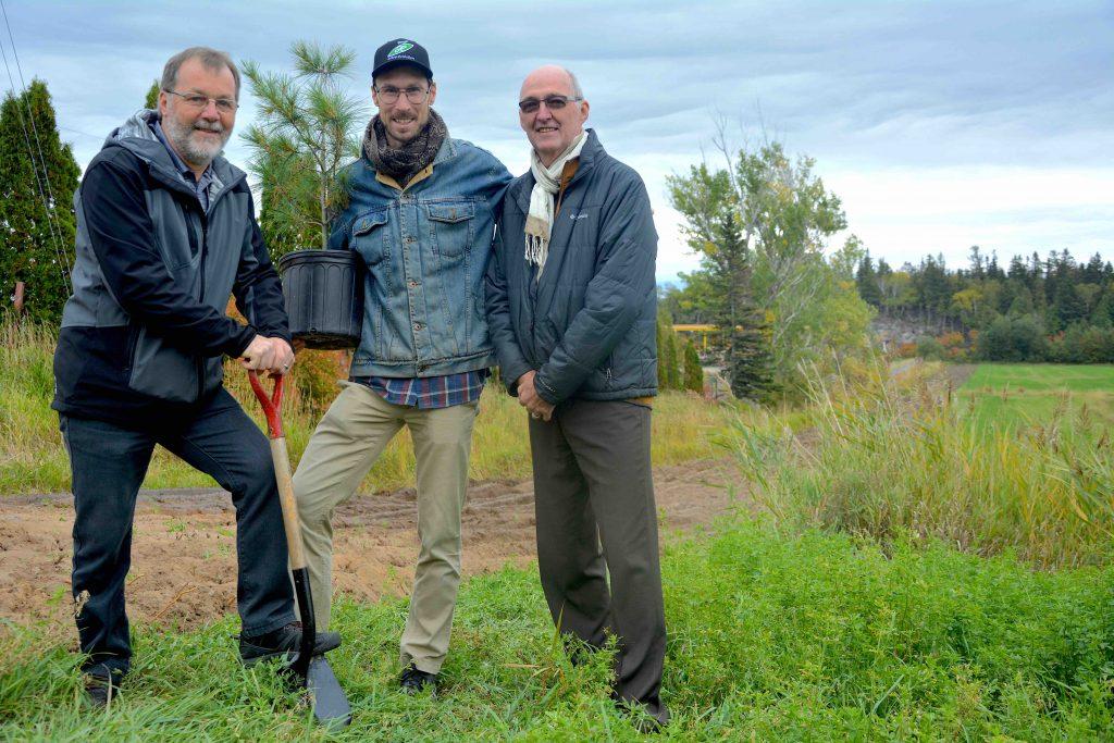 Plus de 500 arbres pour le futur parc industriel de La Pocatière