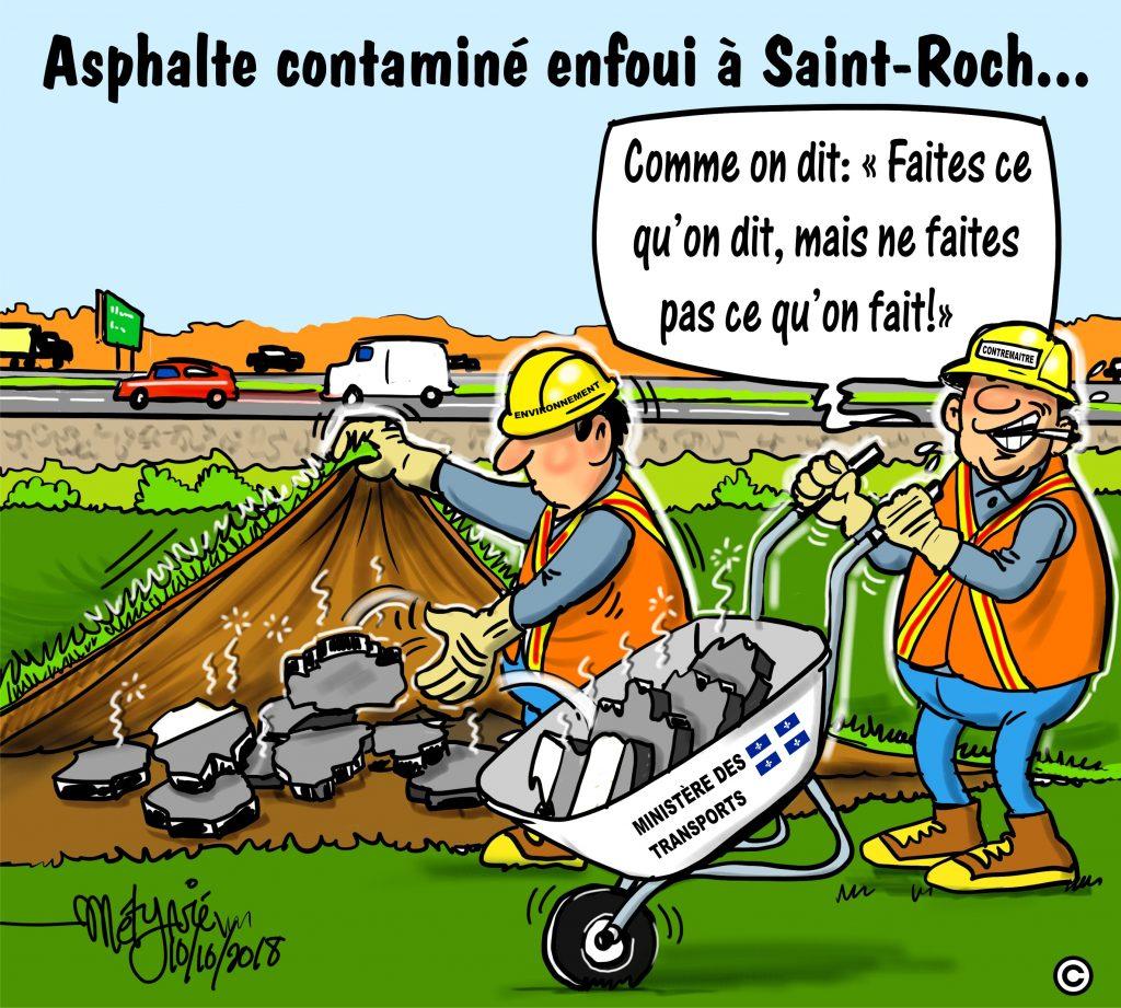 Dans la mire de Métyvié… l'asphalte de Saint-Roch-des-Aulnaies
