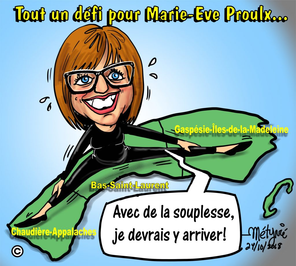 Dans la mire de Métyvié… le mandat de ministre de Marie-Eve Proulx