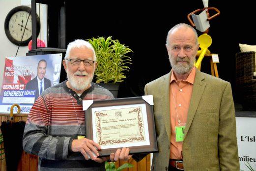 Roméo Bouchard reçoit le prix Philippe-Aubert-de-Gaspé