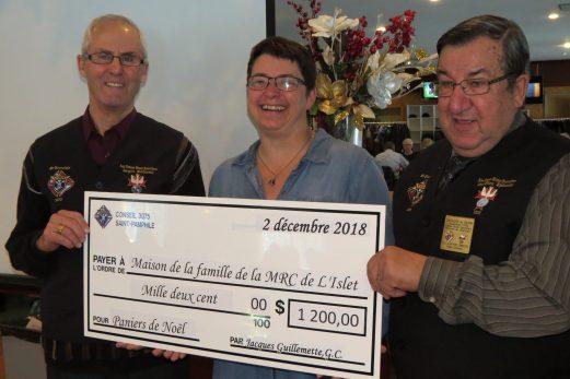 Remise de 1200 $ à la Maison de la famille de la MRC de L'Islet
