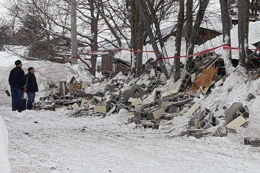 Un garage s'effondre à Saint-Alexandre