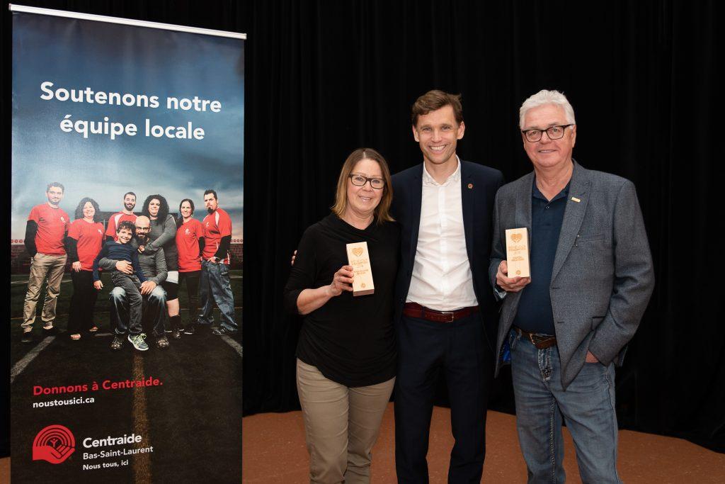 Centraide Bas-Saint-Laurent honore deux de ses plus dévoués bénévoles